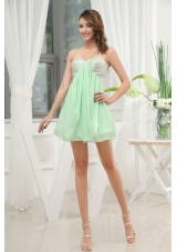 Apple Green Sweetheart Prom Dress With Mini-length Sequins For Club