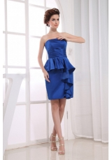Royal Blue Prom Dress With Mini-length