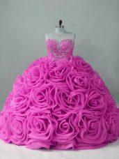 Ball Gowns Sleeveless Lilac 15 Quinceanera Dress Sweep Train Lace Up