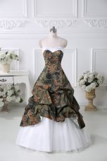 Sweet Multi-color Sleeveless Court Train Pick Ups Prom Evening Gown