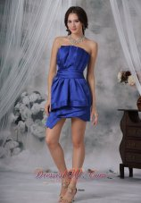 Royal Column / Sheath Strapless Mini-length Taffeta Ruched Prom Dress  Cocktail Dress